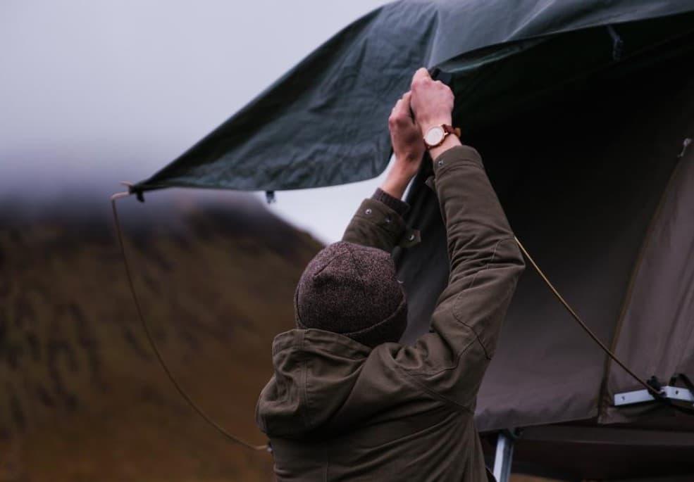 Budget tent setup