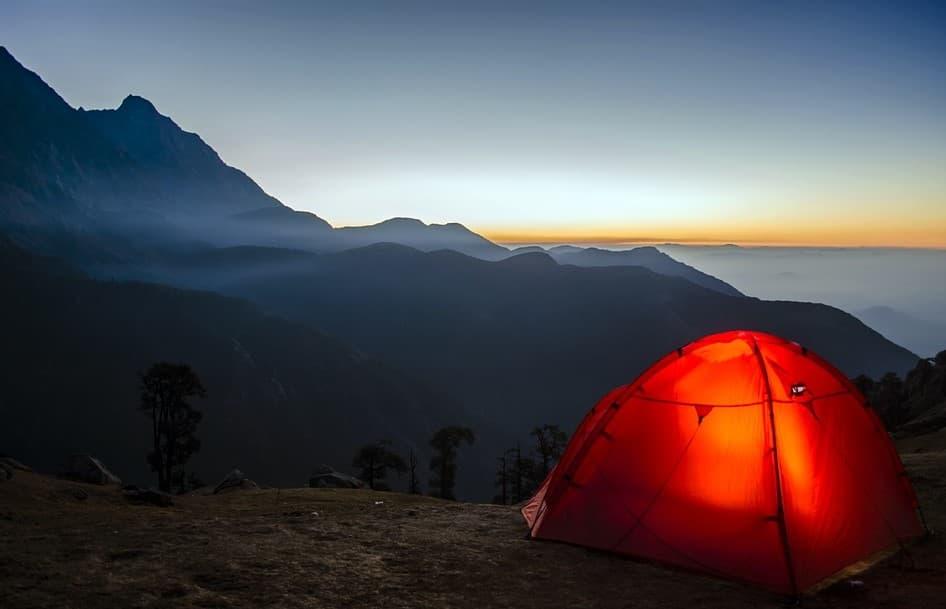 Camping at high altitudes