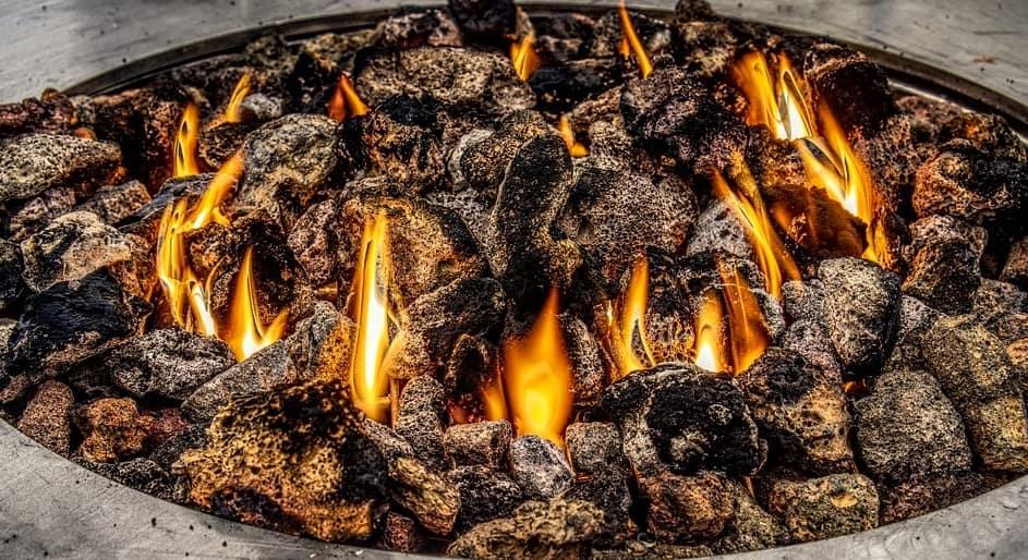 Stones in fire