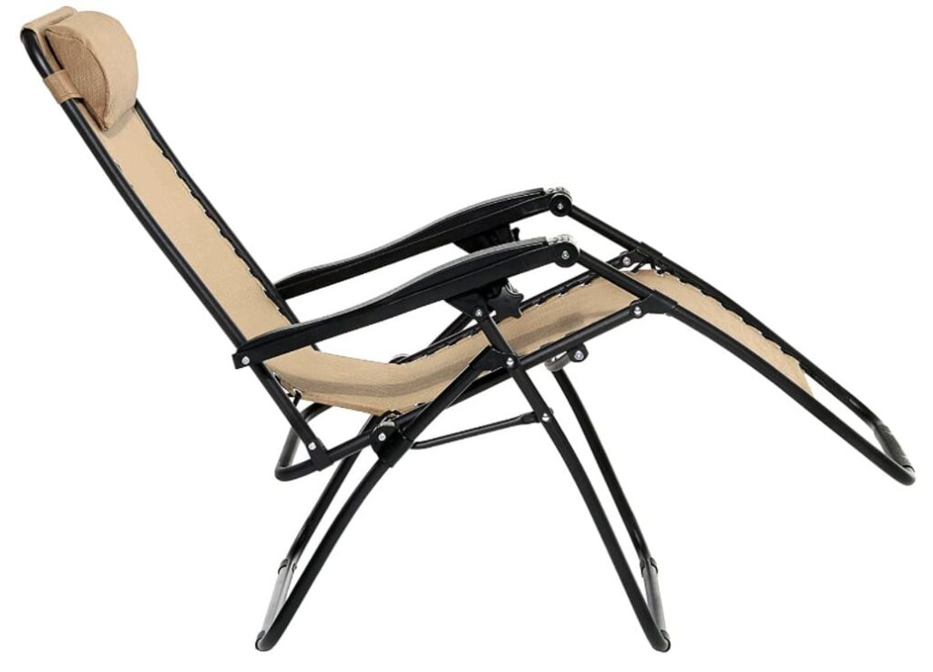 AmazonBasics Outdoor Zero Gravity Lounge Folding Chair