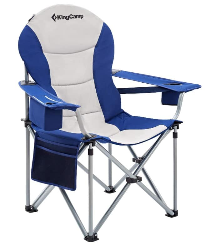 KingCamp Folding Camping Chair with Lumbar Back Support