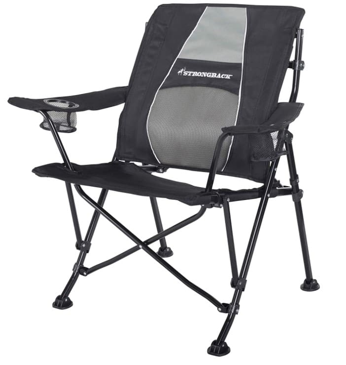 STRONGBACK Guru Folding Camping Chair with Lumbar Support