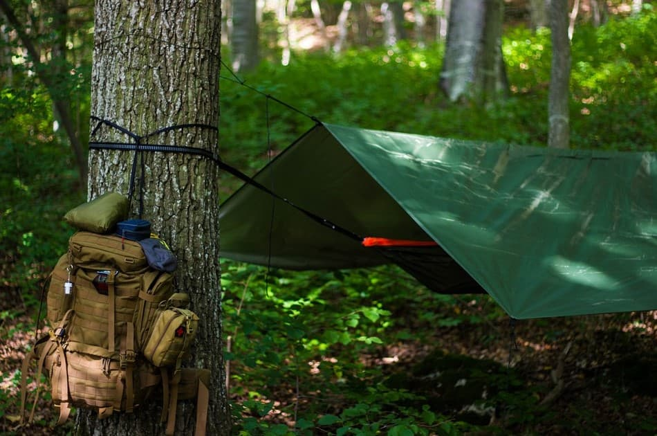 How to make a tarp shelter without trees