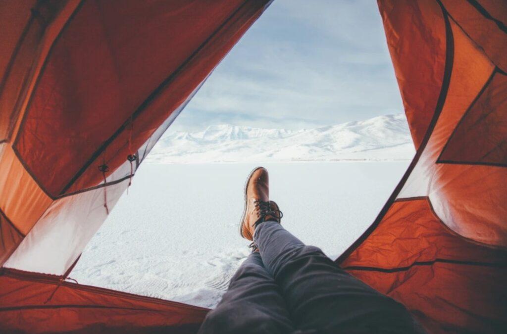 Winter tent interior