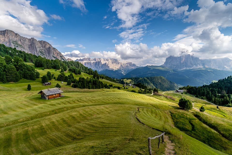 Camping in Dolomites